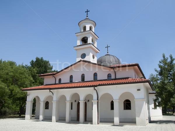 Branco ortodoxo igreja dois luz verão Foto stock © deyangeorgiev
