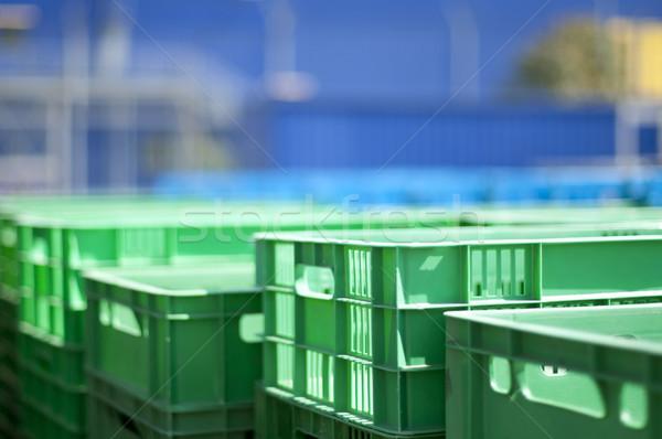 Plastic crates Stock photo © deyangeorgiev