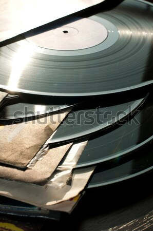Música retro vintage registro mídia vinil Foto stock © deyangeorgiev