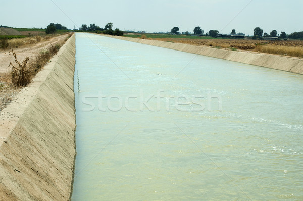 Irrigation canal Stock photo © deyangeorgiev