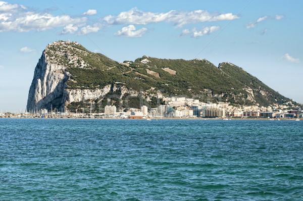 Rock gibraltar morza wody miasta krajobraz Zdjęcia stock © deyangeorgiev
