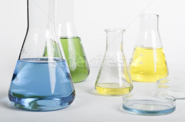 Laboratory glassware equipment Stock photo © deyangeorgiev
