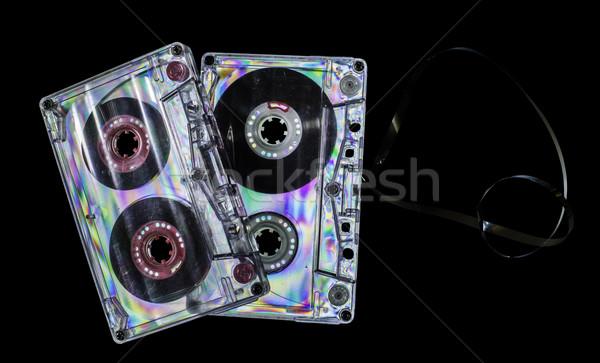 Bağbozumu kaset bant karanlık arka plan disko Stok fotoğraf © deyangeorgiev