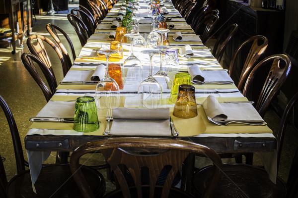 Table in an Italian restaurant Stock photo © deyangeorgiev