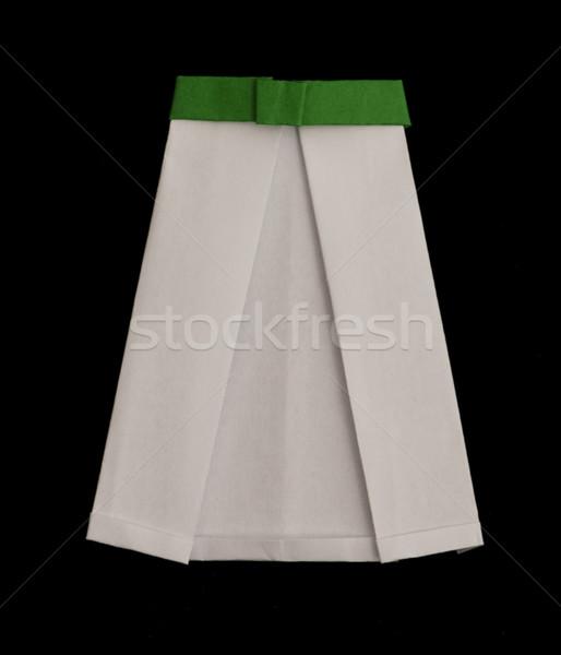 スカート 折られた 折り紙 スタイル 白 女性 ストックフォト © deyangeorgiev