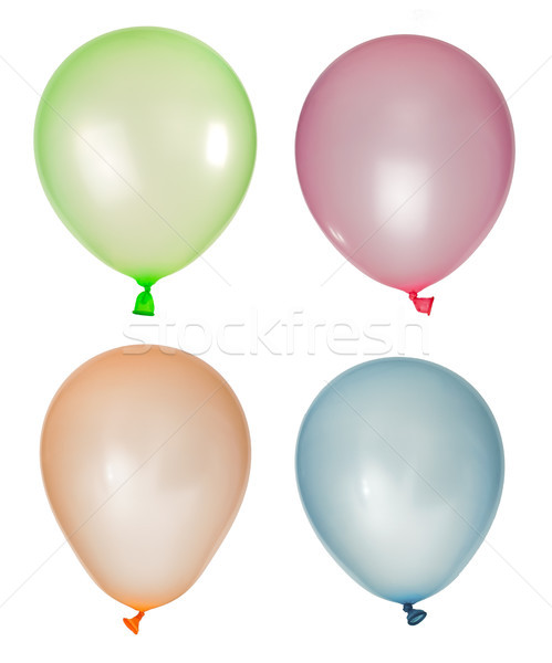 Set of inflated balloons from different colors Stock photo © deyangeorgiev