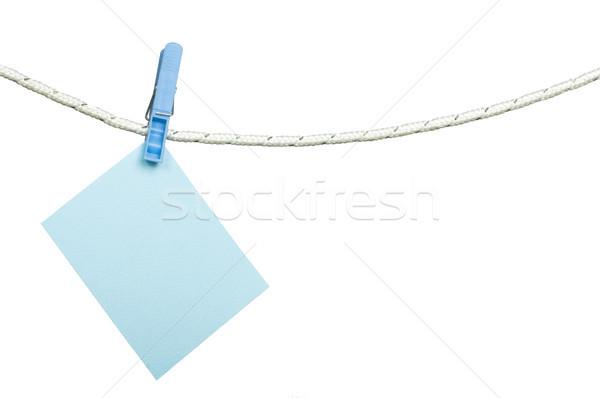 Note papers hooked on a rope Stock photo © deyangeorgiev