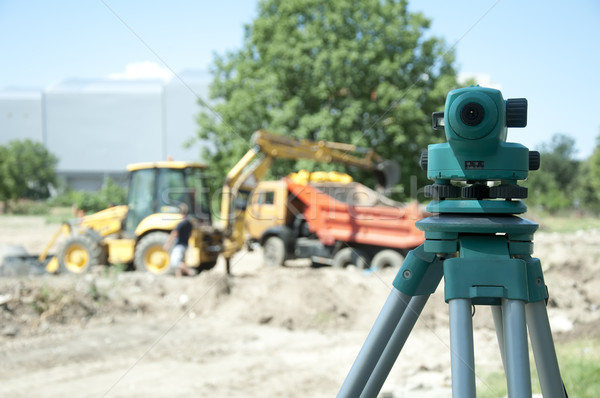 Surveying equipment to the construction site Stock photo © deyangeorgiev
