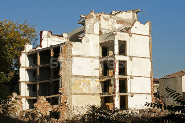 Stock photo: Old demolished building