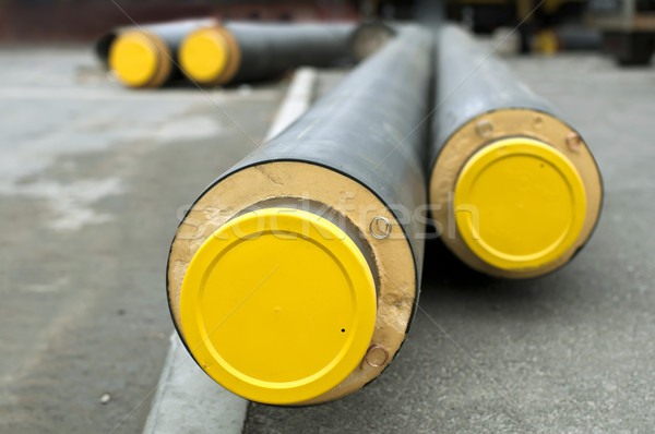 Pipes for hot water and steam heating Stock photo © deyangeorgiev