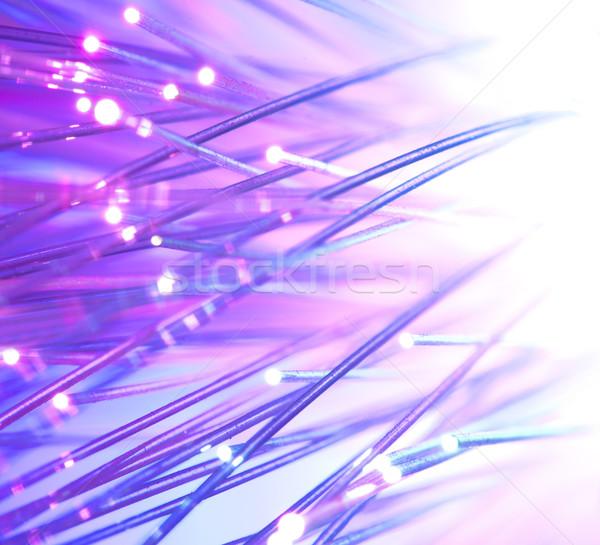 Stock fotó: Optikai · fényes · színek · internet · absztrakt · technológia