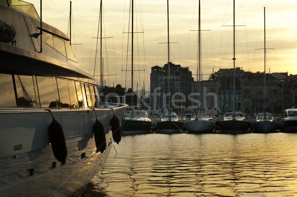 Yachts moored in Cannes Stock photo © deyangeorgiev