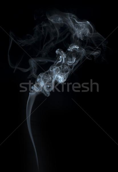 Fumar preto arte fogo luz Foto stock © deyangeorgiev