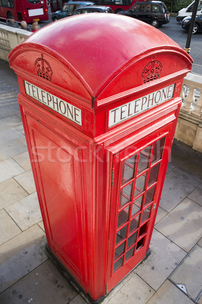 Telefoon Londen Rood vintage straat vak Stockfoto © deyangeorgiev