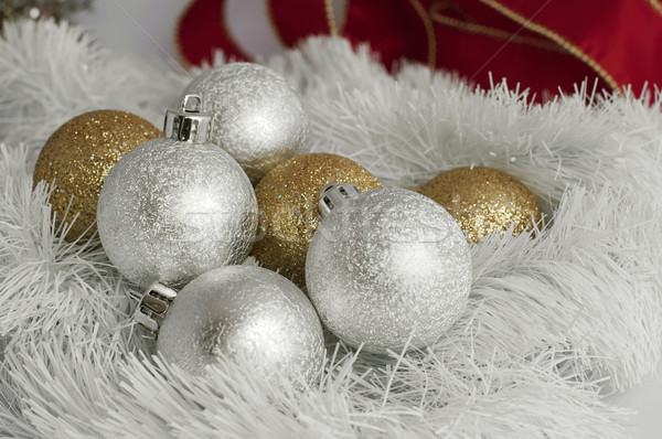Christmas motifs with balls and chains Stock photo © deyangeorgiev