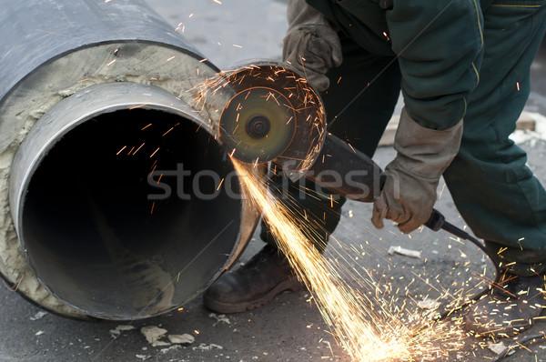 Pipes água quente vapor aquecimento Foto stock © deyangeorgiev