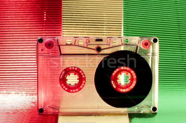 Cassette nastro trasparente multicolore sfondo vintage Foto d'archivio © deyangeorgiev
