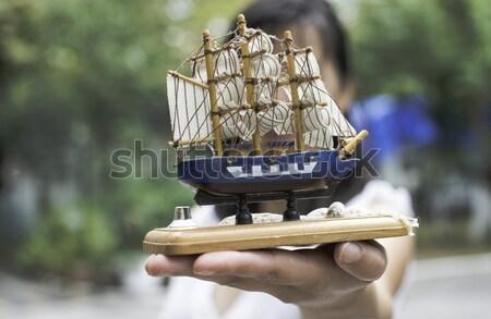 Model zeilschip hand hout zee Stockfoto © deyangeorgiev