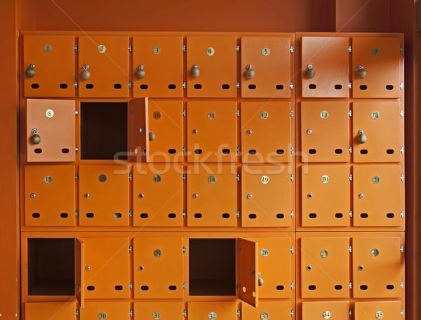 Wiele pomarańczowy polu czerwony komunikacji kolor Zdjęcia stock © deyangeorgiev