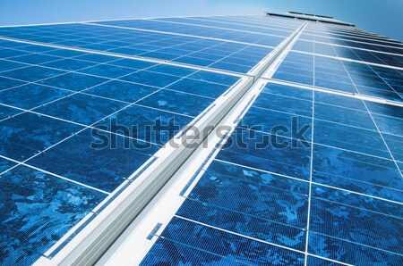 Solar photovoltaic panels Stock photo © deyangeorgiev