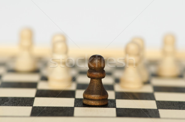 独自性 リーダーシップ チェス ビジネス 木材 背景 ストックフォト © deyangeorgiev