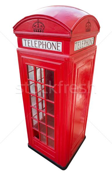 Telefone Londres vermelho isolado vintage rua Foto stock © deyangeorgiev
