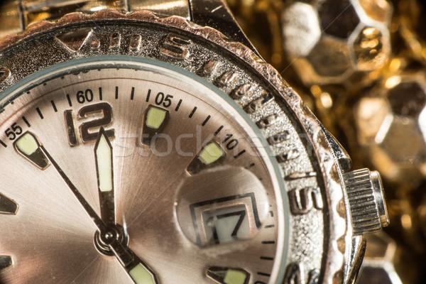 Shiny gold color watch Stock photo © deyangeorgiev
