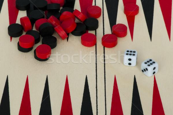 Backgammon and dices Stock photo © deyangeorgiev