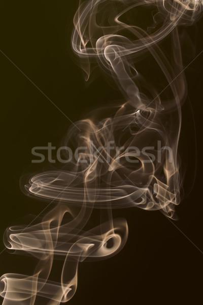 Duman siyah sanat yangın ışık Stok fotoğraf © deyangeorgiev