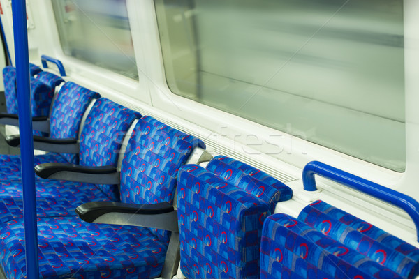 автобус интерьер общественном транспорте фон метро движения Сток-фото © deyangeorgiev