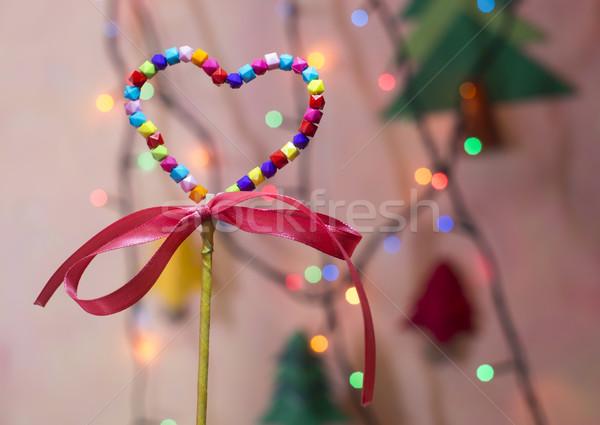 Multicolor heart shape Stock photo © deyangeorgiev