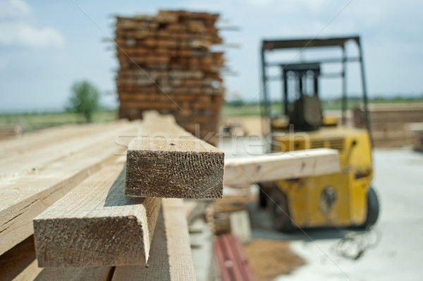 Carpentry factory and ordered timber Stock photo © deyangeorgiev