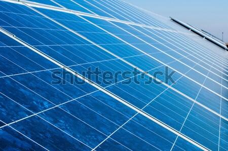 Solar fotovoltaica parque negócio tecnologia industrial Foto stock © deyangeorgiev