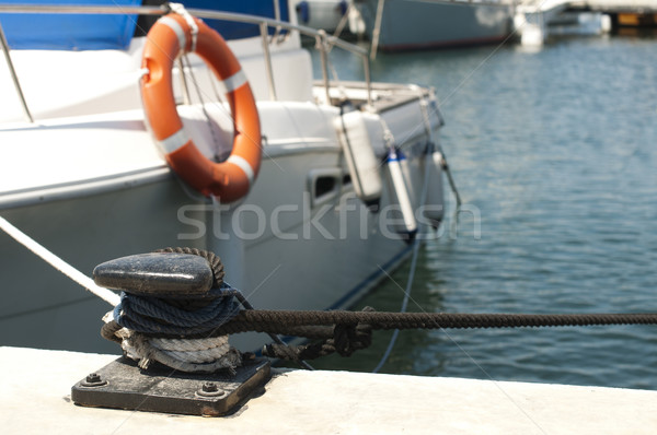 Yacht docked in harbor Stock photo © deyangeorgiev