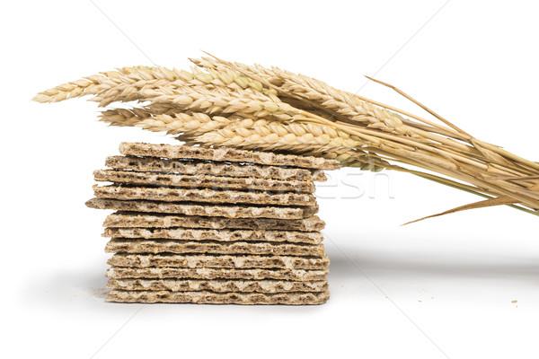 Pile Crackers and wheat cereal crops Stock photo © deyangeorgiev