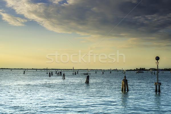 Mar rota Veneza paisagem verão oceano Foto stock © deyangeorgiev