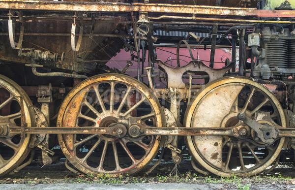 Details of an old steam locomotive Stock photo © deyangeorgiev