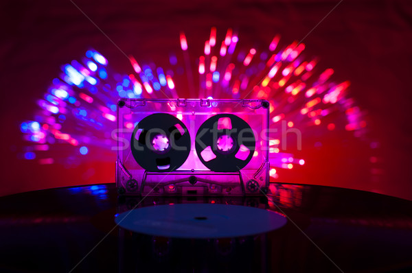 Stockfoto: Lp · vinyl · record · cassette · tape · disco