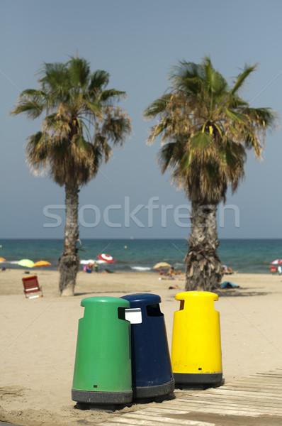 Különálló gyűjtemény szemét tengerpart égbolt természet Stock fotó © deyangeorgiev