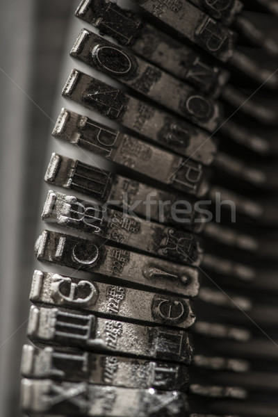 Metal letters on typewriter Stock photo © deyangeorgiev