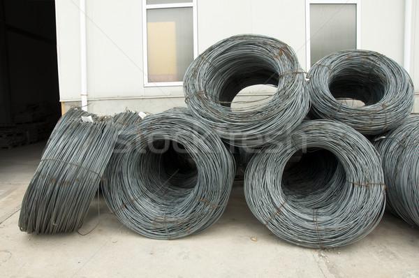 Staal bars rollen bouwmaterialen bouw metaal Stockfoto © deyangeorgiev