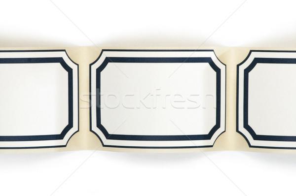 Label paper with boarder Stock photo © deyangeorgiev