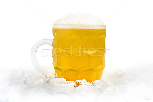 Mug birra luce sfondo bere Foto d'archivio © deyangeorgiev