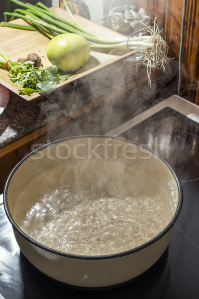 Boiling water in a saucepan Stock photo © deyangeorgiev