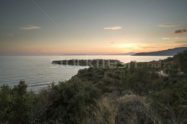 風景 ギリシャ 海 海 青 旅行 ストックフォト © deyangeorgiev