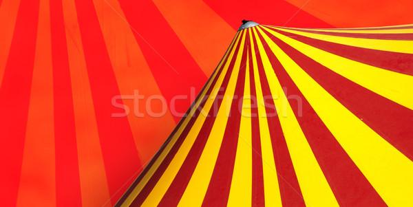 サーカス ドーム 赤 黄色 家族 パーティ ストックフォト © deyangeorgiev