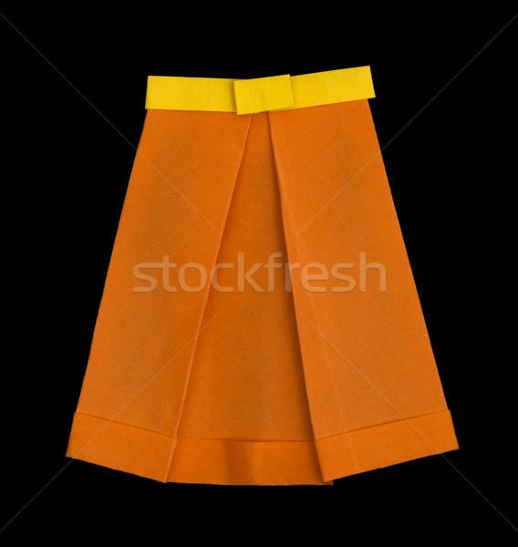 Skirt folded origami style Stock photo © deyangeorgiev