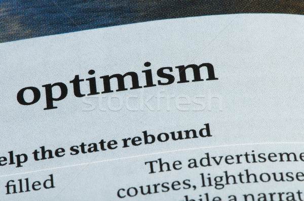 Word Optimism  Stock photo © deyangeorgiev
