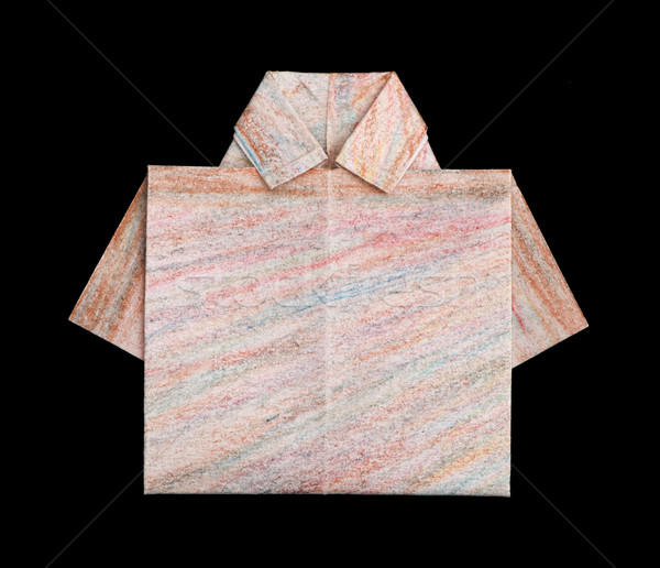 Shirt folded origami style Stock photo © deyangeorgiev