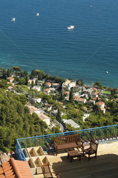 Terrace overlooking the sea Stock photo © deyangeorgiev